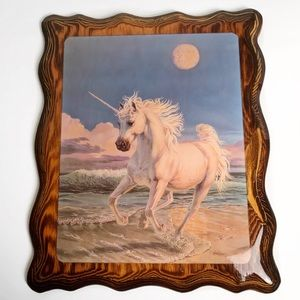 Vintage Unicorn on the Beach Art 70's 80's 90's